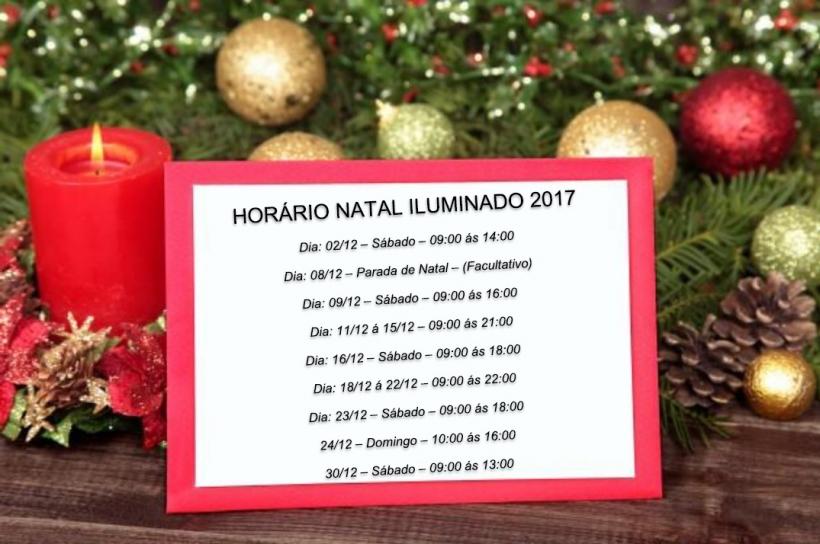 Horário Natal Iluminado 2017