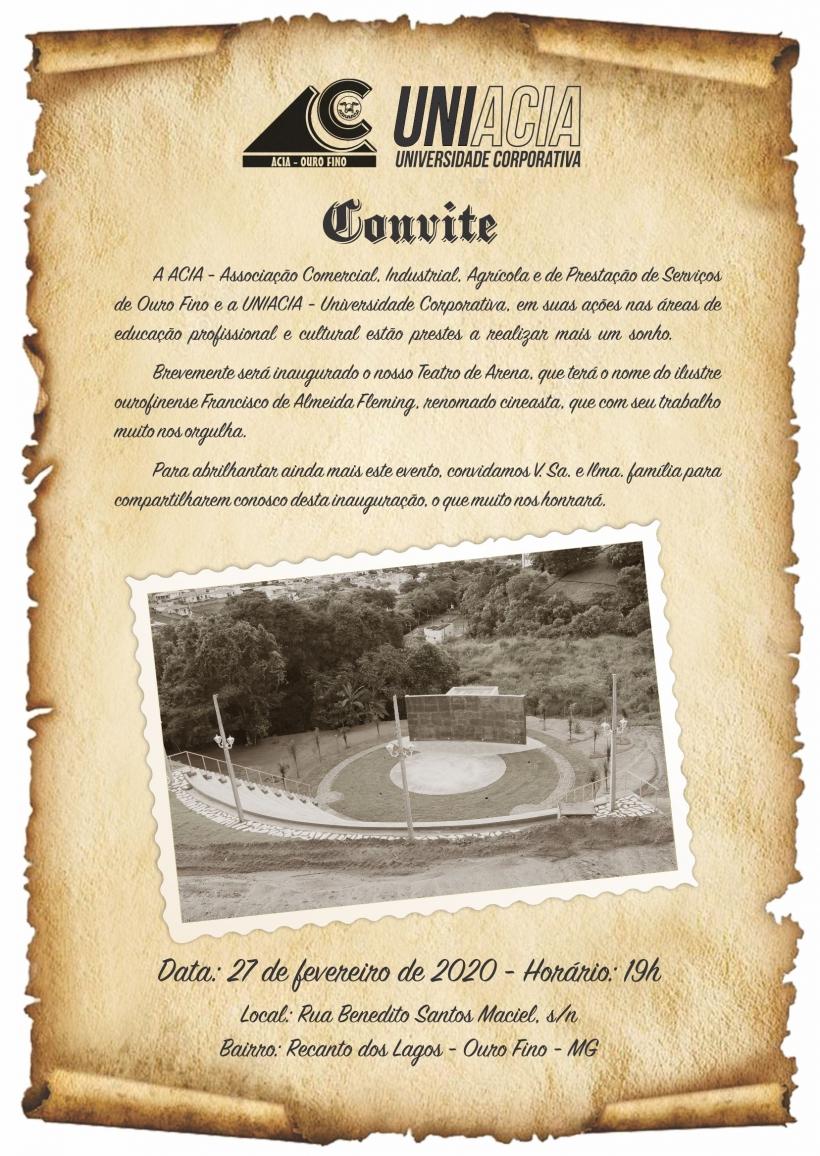 CONVITE TEATRO DE ARENA
