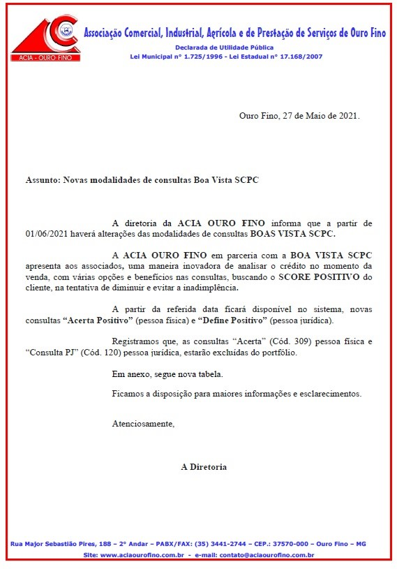 COMUNICADO MUDANÇA SCPC ASSOCIADOS