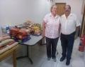 Entrega de alimentos arrecadados com a Palestra Magna ao Educandário São José.