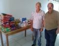 Entrega de alimentos arrecadados com a Palestra Magna ao Abrigo São Vicente de Paula.